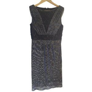 Sangria Navy Lace Knit Sheath Dress